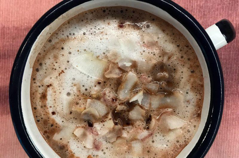 Kokosowe kakao z malinami