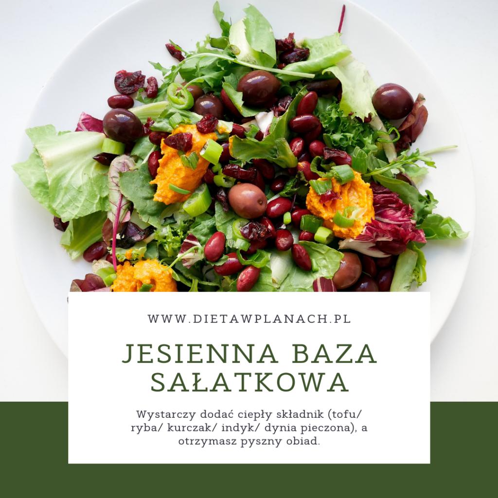 jesienna sałatka - baza do pełnowartościowego obiadu