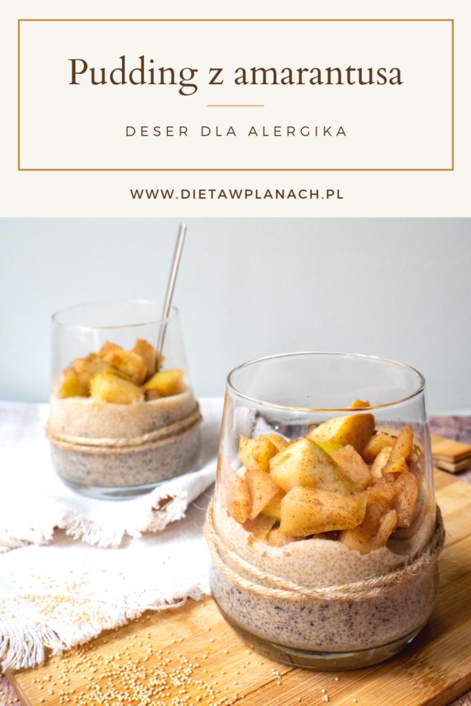 deser dla alergika - propozycja podania puddingu